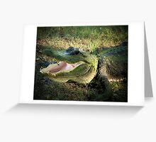 Laughing Gator Greeting Card
