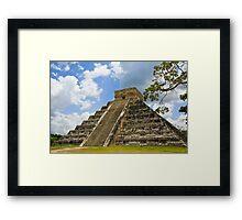 Kukulkan Pyramid Framed Print