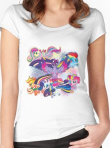 Rainbow Power! Women's Fitted Scoop T-Shirt