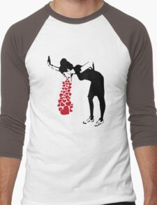 Banksy Love Sick Men's Baseball ¾ T-Shirt