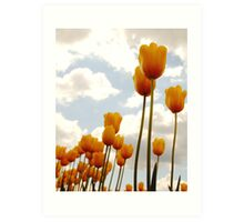 Tulip Friends Art Print