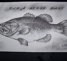 LARGEMOUTH bass in #2 pencil by perfectpencil