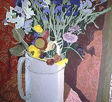 Flowers in jug by rabrisay