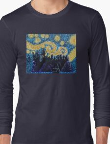 Dr Who Hogwarts Starry Night Long Sleeve T-Shirt