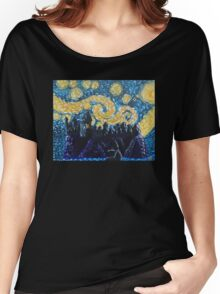 Dr Who Hogwarts Starry Night Women's Relaxed Fit T-Shirt