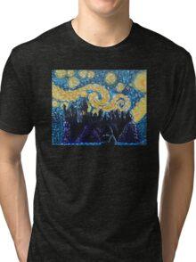 Dr Who Hogwarts Starry Night Tri-blend T-Shirt