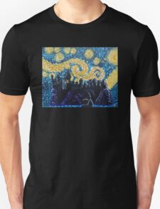 Dr Who Hogwarts Starry Night Unisex T-Shirt