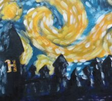 Dr Who Hogwarts Starry Night Sticker