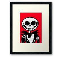 Jack on Red  Framed Print