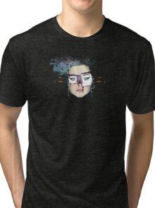 telly daze .... an interpretation by Nat Tee Tri-blend T-Shirt
