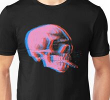 Van Gogh Skull with burning cigarette remixed 2 Unisex T-Shirt