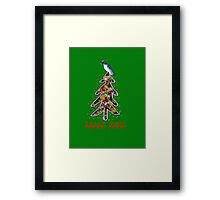 Aussi  X-mas cockatoo (green text) Stock up , get ready for Christmas ! Framed Print