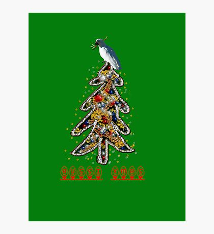Aussi  X-mas cockatoo (green text) Stock up , get ready for Christmas ! Photographic Print