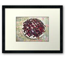 Chocolate Cheesecake Is An Act of Kindness Framed Print
