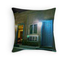 Motel - Barstow CA USA Throw Pillow