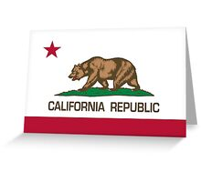 California Republic state flag - Authentic Version Greeting Card