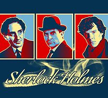 Sherlock Trilogy x3 - RYB (Card) by ifourdezign