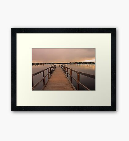 Approching Rain Cloud At Shelley - Western Australia Framed Print