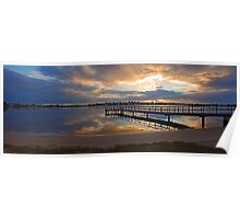 Shelley Jetty At Sunset  Poster