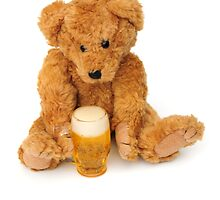 Bear with his pint by faithimages