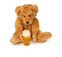 Bear with his pint Photographic Print
