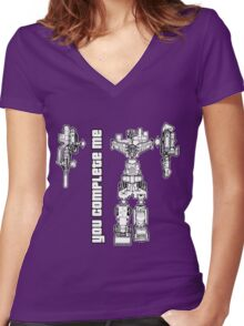 You Complete Me Women's Fitted V-Neck T-Shirt