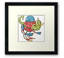 Robot Duck Framed Print