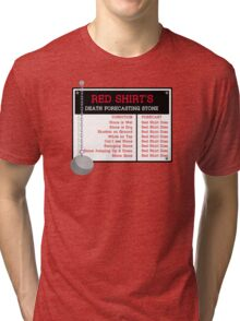 Red Shirt's Death Forecasting Stone Tri-blend T-Shirt