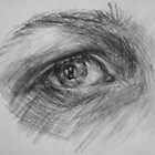 Eye, charcoal by Anastasia Zabrodina