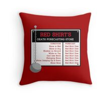 Red Shirt's Death Forecasting Stone Throw Pillow