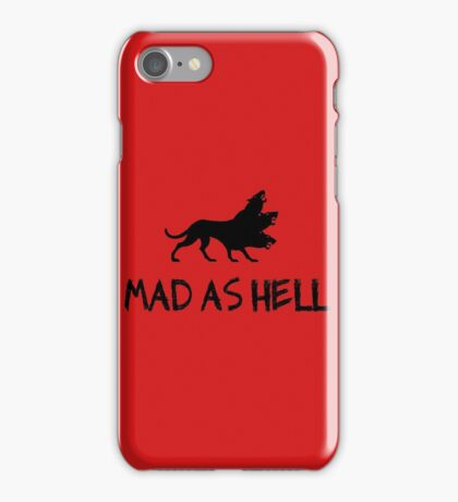 mad as hell iPhone Case/Skin