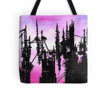 Post Apocalyptic Skyline Tote Bag