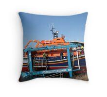 Shipbuilding and repairs - Buckie, Scotland Throw Pillow