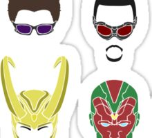 Simple Marvel Heroes Sticker