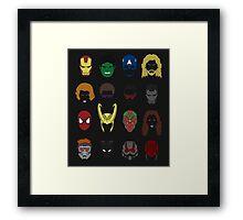Simple Marvel Heroes Framed Print