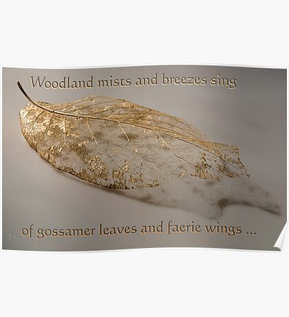 Of gossamer leaves and faerie wings . . . Poster