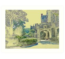 Castle View (Walking up the Hill) Art Print