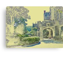 Castle View (Walking up the Hill) Canvas Print