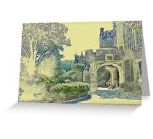 Castle View (Walking up the Hill) Greeting Card
