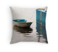 Blue Dinghy Throw Pillow