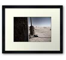 swaying in the wind Framed Print