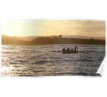 Maroochy River surfboat training Poster