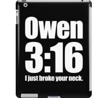 Owen 3:16 iPad Case/Skin