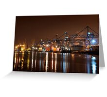 HEAVY INDUSTRY BY THE RIVER Greeting Card