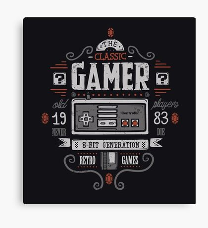 Classic gamer Canvas Print