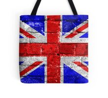 Union Jack Flag Brick Wall Tote Bag