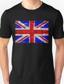 Union Jack Flag Brick Wall Unisex T-Shirt