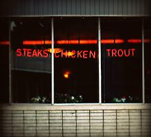 steaks, chicken, trout by gail anderson
