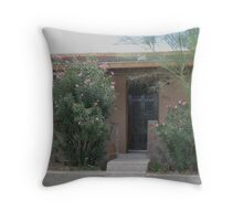 Oleander, palo verde, stone and stucco Throw Pillow