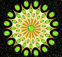 Mandala Gold and Emeralds by BluedarkArt